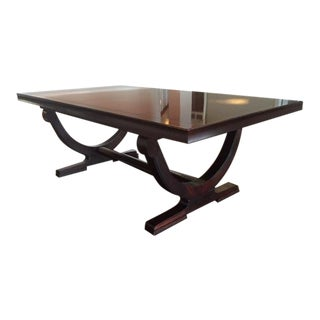 Art Deco Baker Barry Mahogany Dining Table For Sale