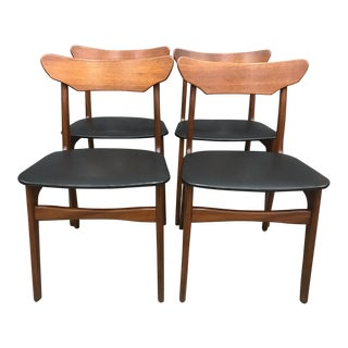 Set of 4 Schionning & Elgaard Teak Dining Chairs