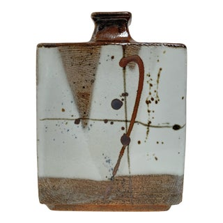 Albert Green Studio Pottery Hand Built Slab Vase For Sale