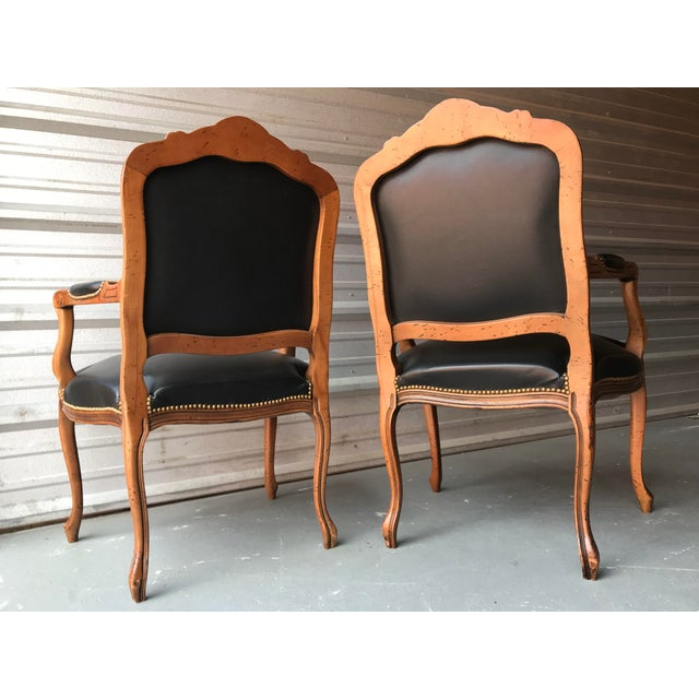 Italian Chateau d'Ax French Country Louis XV Style Italian Armchairs - a Pair For Sale - Image 3 of 8