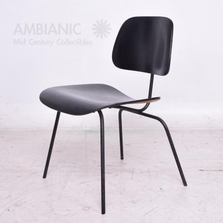 Mid-Century Modern Eames Dcm Chair in Black Preview