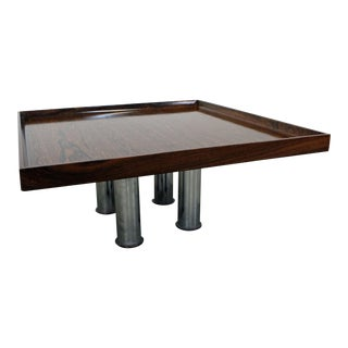 Mid-Century Danish Modern Knoll Rosewood Chrome Coffee/End Table For Sale
