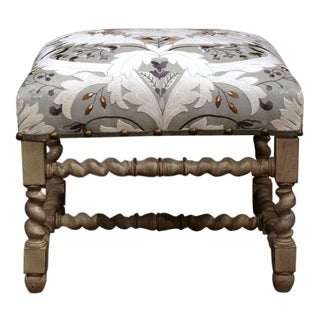 Early 20th Century French Carved & Painted Stool