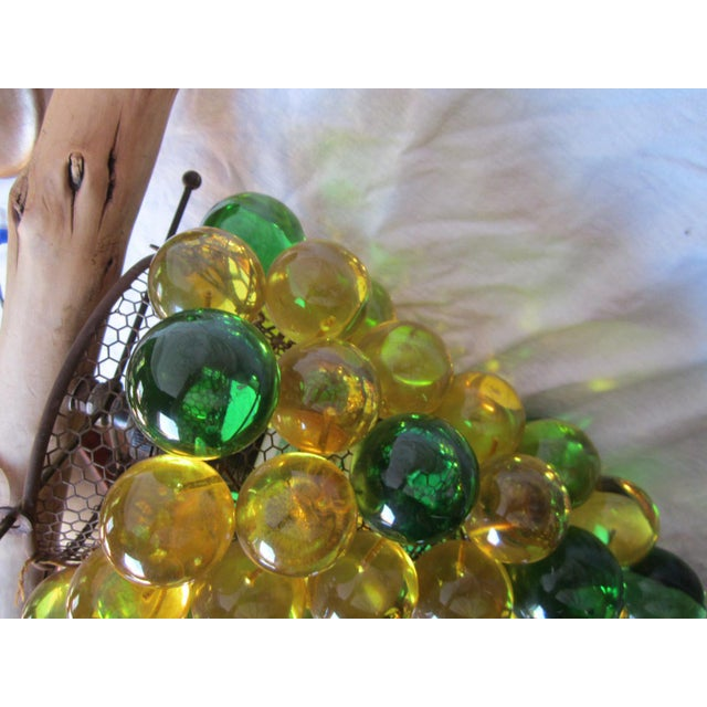 Green Vintage Grape Cluster Acrylic Pendant Light For Sale - Image 8 of 12