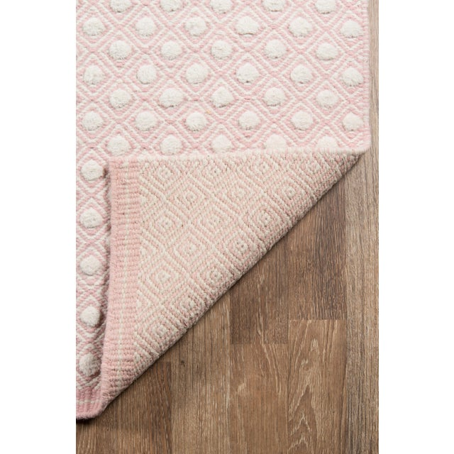 """2010s Erin Gates by Momeni Langdon Windsor Pink Hand Woven Wool Area Rug - 3'9"""" X 5'9"""" For Sale - Image 5 of 7"""