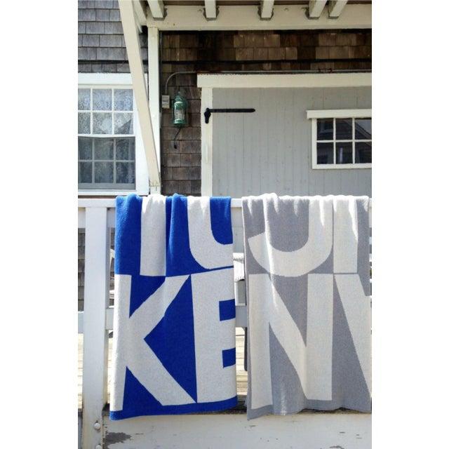 2020s Liz Roache Nantucket Throw, Blue For Sale - Image 5 of 8