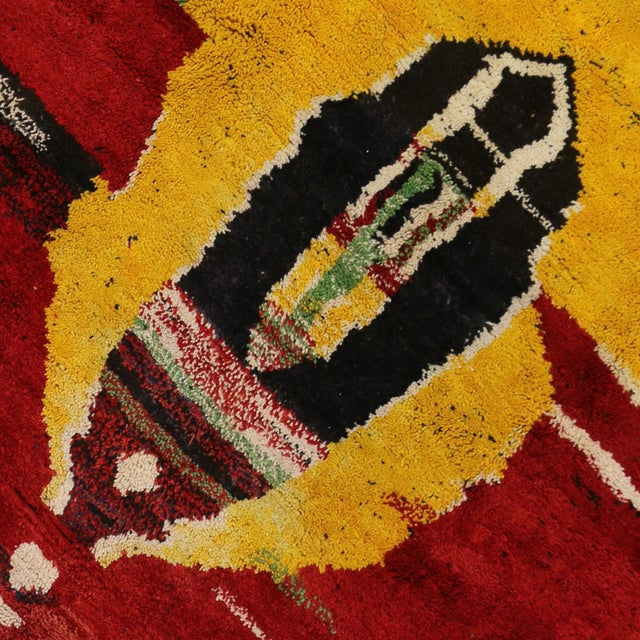 Moroccan Contemporary Abstract Design Berber Rug - 8′8″ × 11′2″ - Image 4 of 6