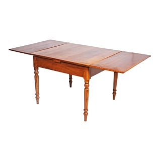 Napoleon III Provincial Walnut French Wing Table