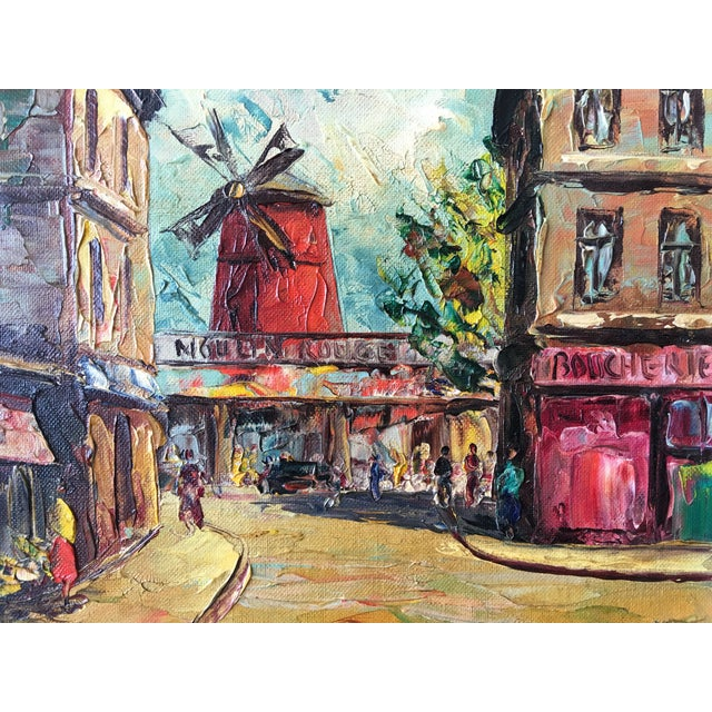 1950s Moulin Rouge Oil Painting - Image 3 of 5