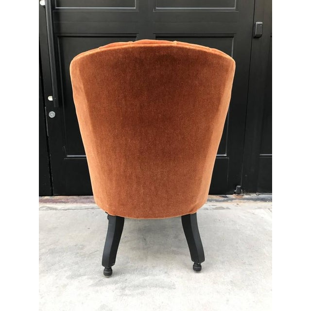 French Art Deco Side Chair in Mohair For Sale - Image 4 of 5