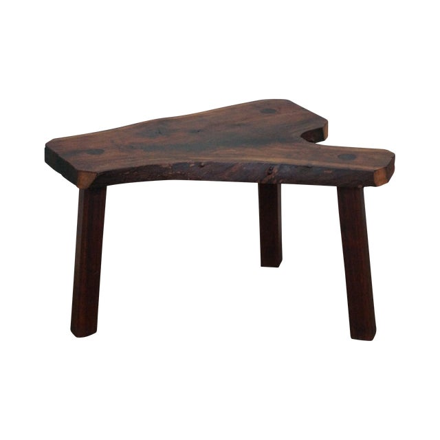 Vintage Walnut Free Form Slab Side Table - Image 1 of 10