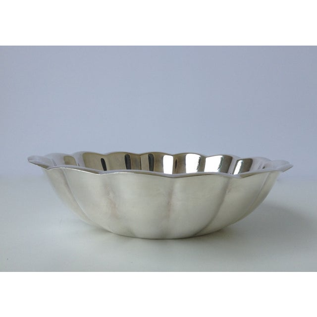 Contemporary Reed & Barton Silverplated Fluted Bowl For Sale - Image 3 of 7