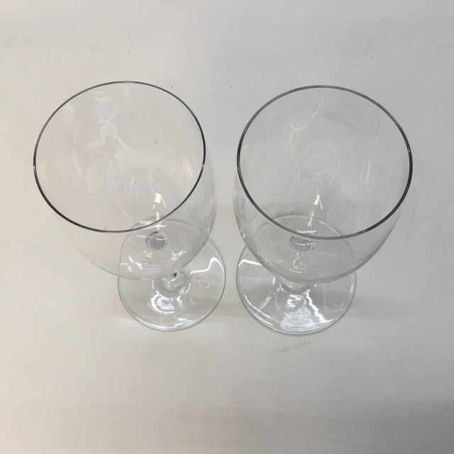 1990s Baccarat France Crystal Wine Glasses - a Pair For Sale - Image 5 of 7