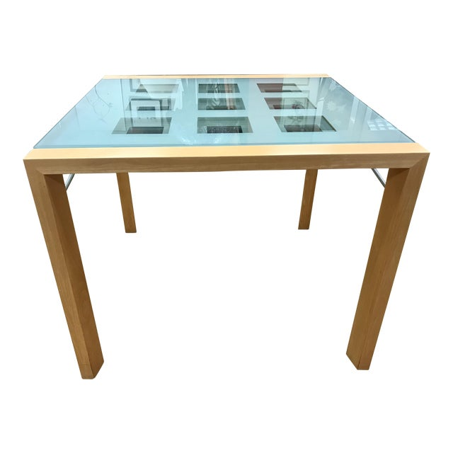 1990s Modern Ligne Roset Expandable Extensia Glass Dining Table For Sale