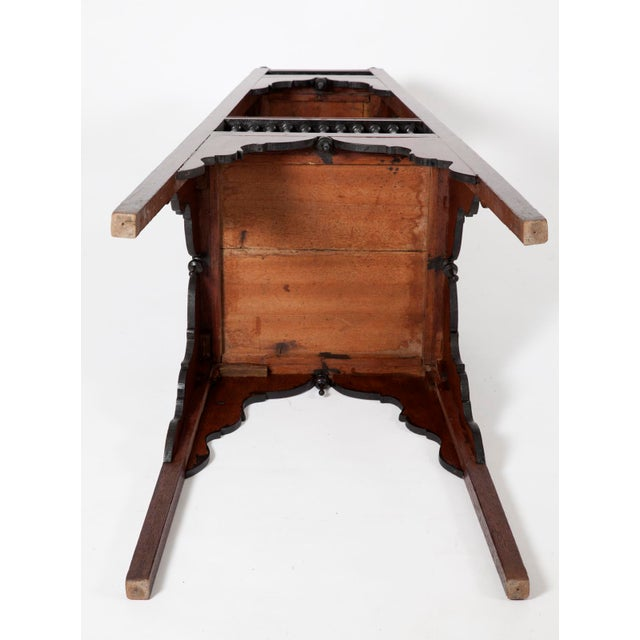 Antique English Regency Mahogany and Ebonized Wood Jardiniere Plant Stands - Image 6 of 7