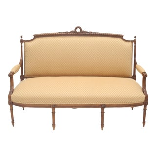 Late 19th Century Antique French Louis XVI Style Settee For Sale