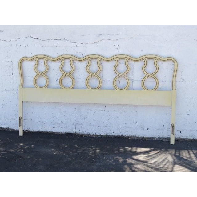 French King Size Painted Headboard For Sale - Image 11 of 11