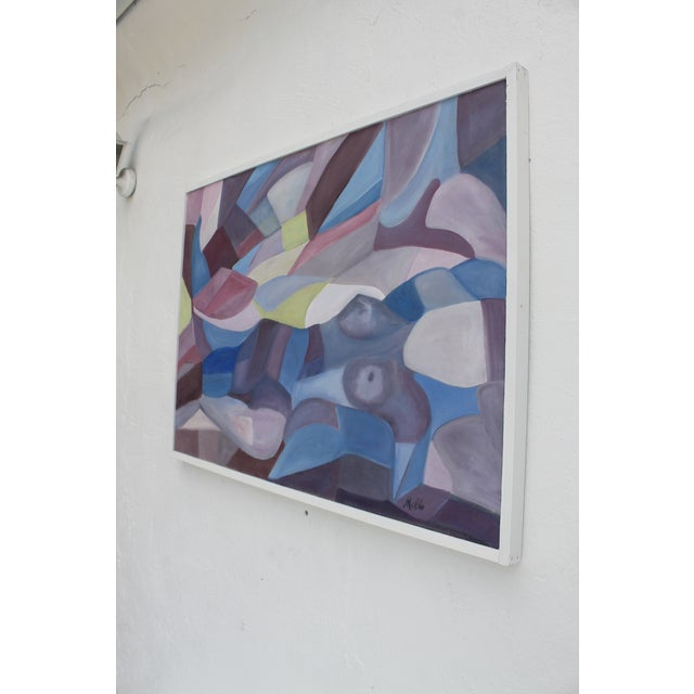 Vintage Cubist Painting of a Woman - Image 4 of 10