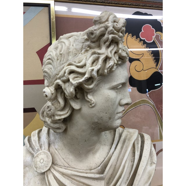 Beautiful large bust of David. Made of some sort of stone like composite. This guy has some weight to him. Beautiful pose...