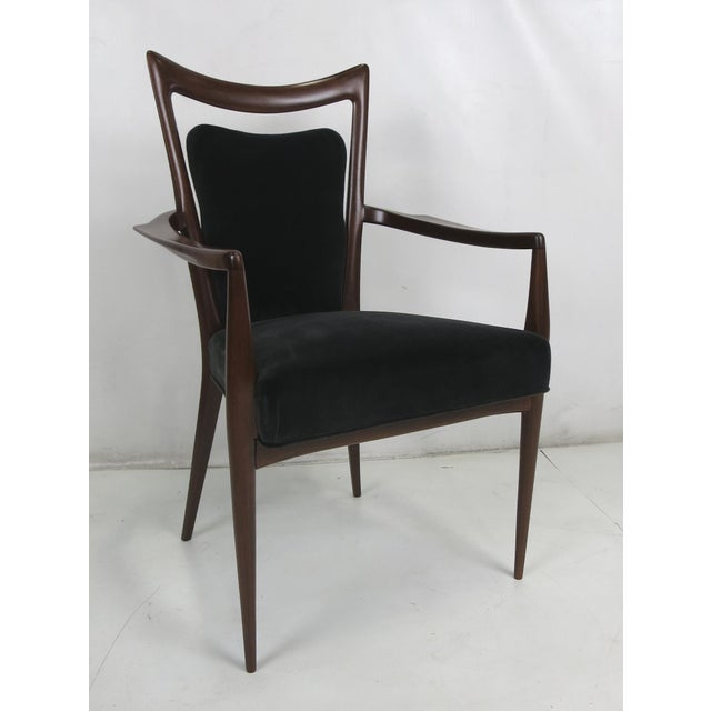 Fantastic armchair by Melchiorre Bega that has been painstakingly restored; glued, refinished, springs re-tied, new...