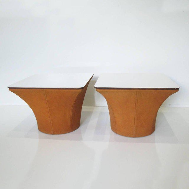 1960s Pierre Paulin Style Mid-Century Modern Mushroom Side Tables - a Pair For Sale - Image 5 of 11