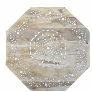Indian Bone Fitted Octagonal Side Table - Light Preview