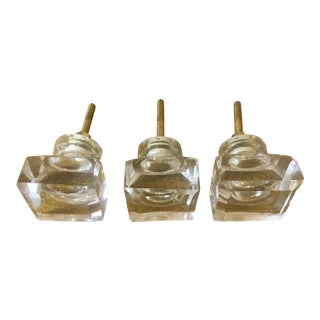 Anthropologie Square Glass Knobs - Set of 3 For Sale