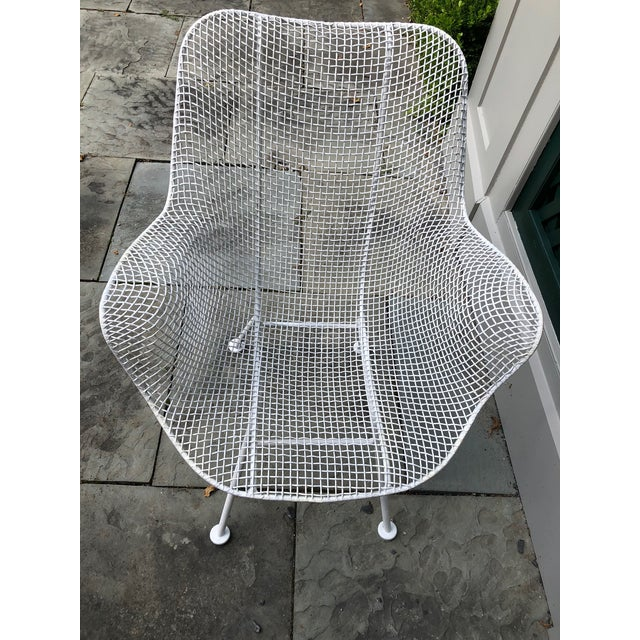 """1950s Woodard """"Sculptura"""" White Patio Chairs - a Pair For Sale - Image 12 of 14"""