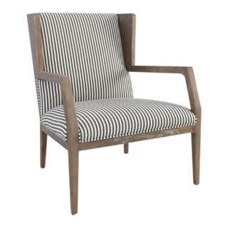 Kenneth Ludwig York Striped Occassional Chair For Sale