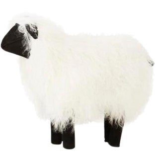 Large Tibetan Lamb Sheep in White For Sale