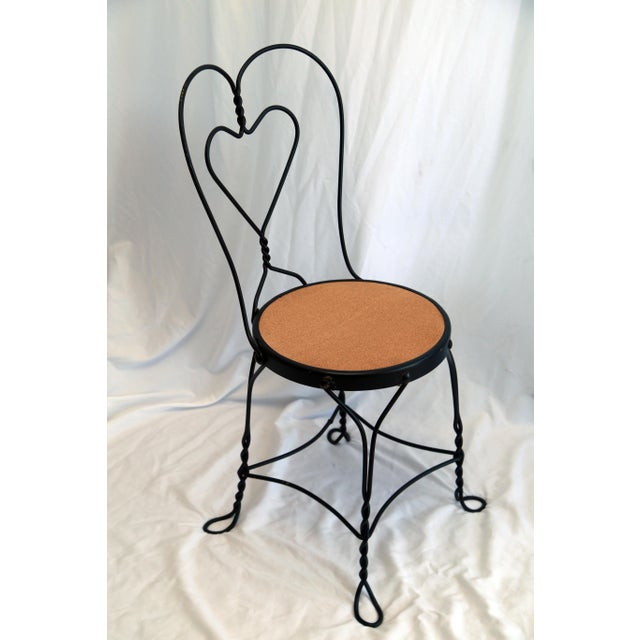 Shabby Chic 1950s Vintage Ice Cream Parlor Chairs- a Pair For Sale - Image 3 of 6