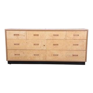 Burl Wood Dresser Credenza by Henredon For Sale
