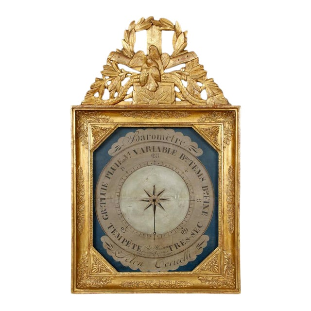 19th Century French Barometer in Giltwood Frame For Sale