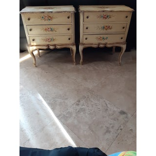French Regency Hand Painted Side Tables - a Pair Preview