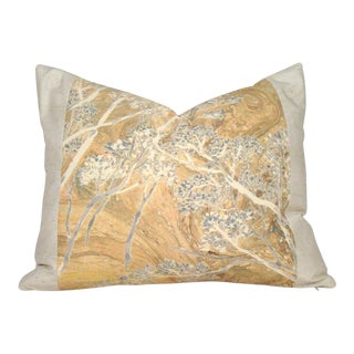Japanese Kimono Treescape Pillow Cover For Sale
