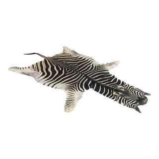 2010s Modern Forsyth Authentic Zebra Hide Rug For Sale