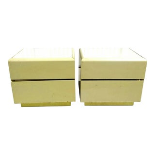 Lane Lacquer Nightstands -A Pair For Sale