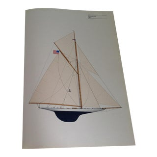 "Vintage ""Reliance"" 1903 Sailboat Print"