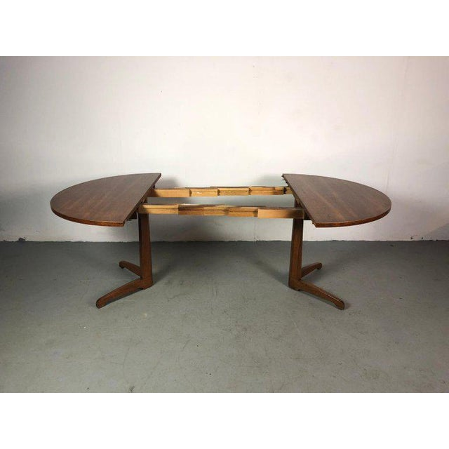 Walnut Early One of a Kind George Nakashima Dining Set With Six Captain Chairs Usa 1966 For Sale - Image 7 of 12