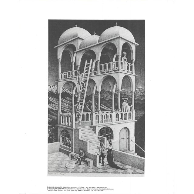 """Belvedere"" by M.C. Escher, Unsigned Offset Lithograph printed in 1988. The overall size of the Offset Lithograph is 12 x..."
