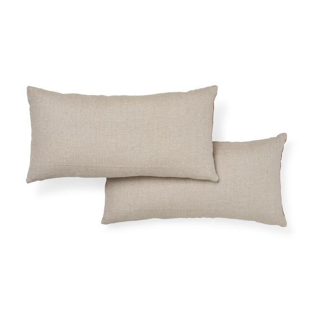 Schumacher Schumacher Wentworth Embroidery Pillow in Rust For Sale - Image 4 of 7