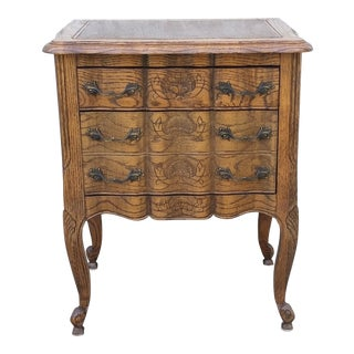 20th Century French Provincial Oak Nightstand For Sale