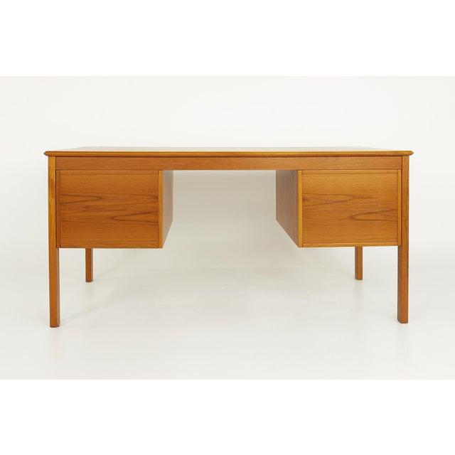 Mid 20th Century Farso Stolefabrik for Maurice Villency Mid Century Danish Teak Desk For Sale - Image 5 of 13