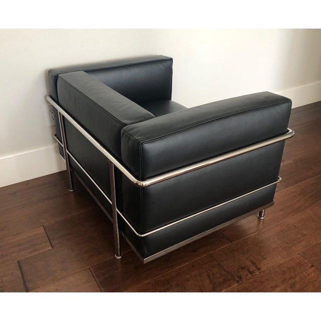 Mid-Century Modern Mid-Century Modern Cassina Le Corbusier LC3 Armchair For Sale - Image 3 of 12