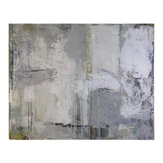 """2019 Robin Phillips """"Gray Ground"""" Plaster Acrylic & Dyes on Canvas Painting For Sale"""