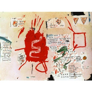 Jean Michel Basquiat Pop Art Snakeman, Whitney Museum Print For Sale