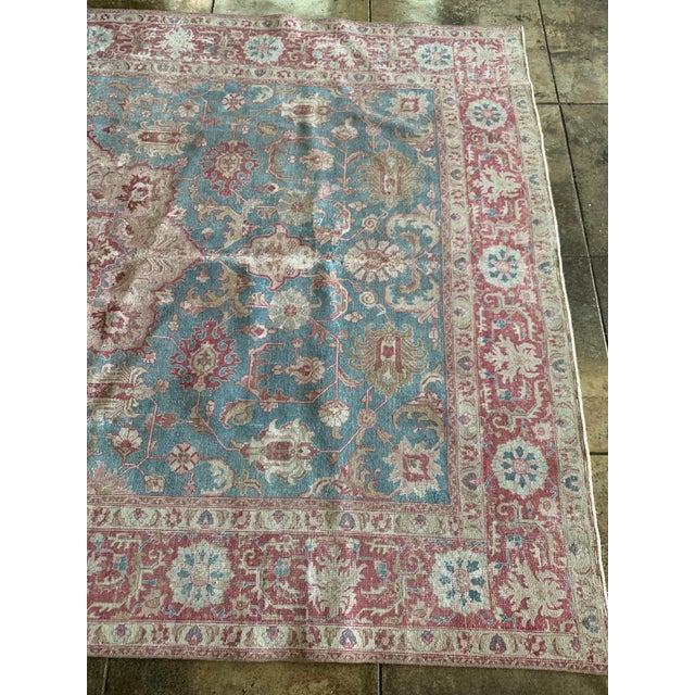 """Persian Tapriz Rug 1930s 10'8"""" X 7' 6"""" For Sale In Los Angeles - Image 6 of 10"""