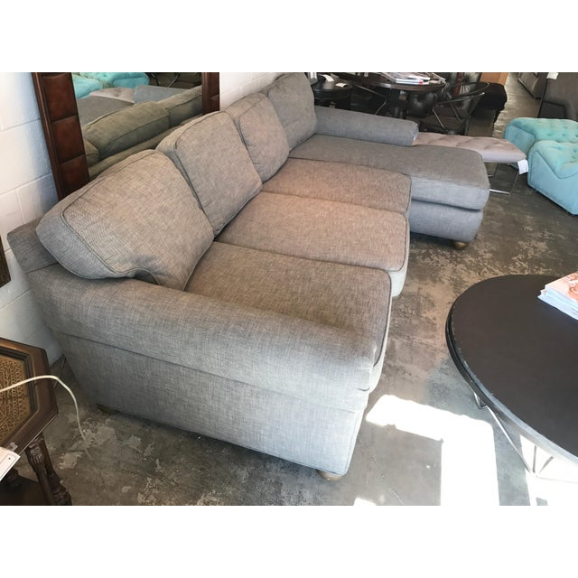 Restoration Hardware Gray Lancaster Sectional Sofa - Image 2 of 4
