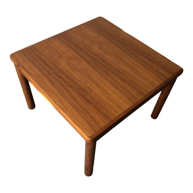 Vintage Mid Century Danish Modern Teak Side Table by Trioh Mobler Denmark For Sale