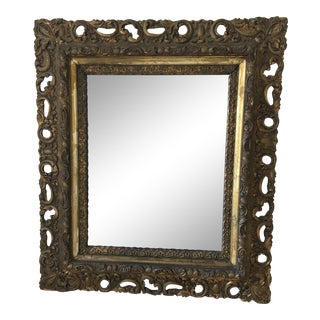 Early 20th Century Antique Baroque Style Framed Wall Mirror For Sale